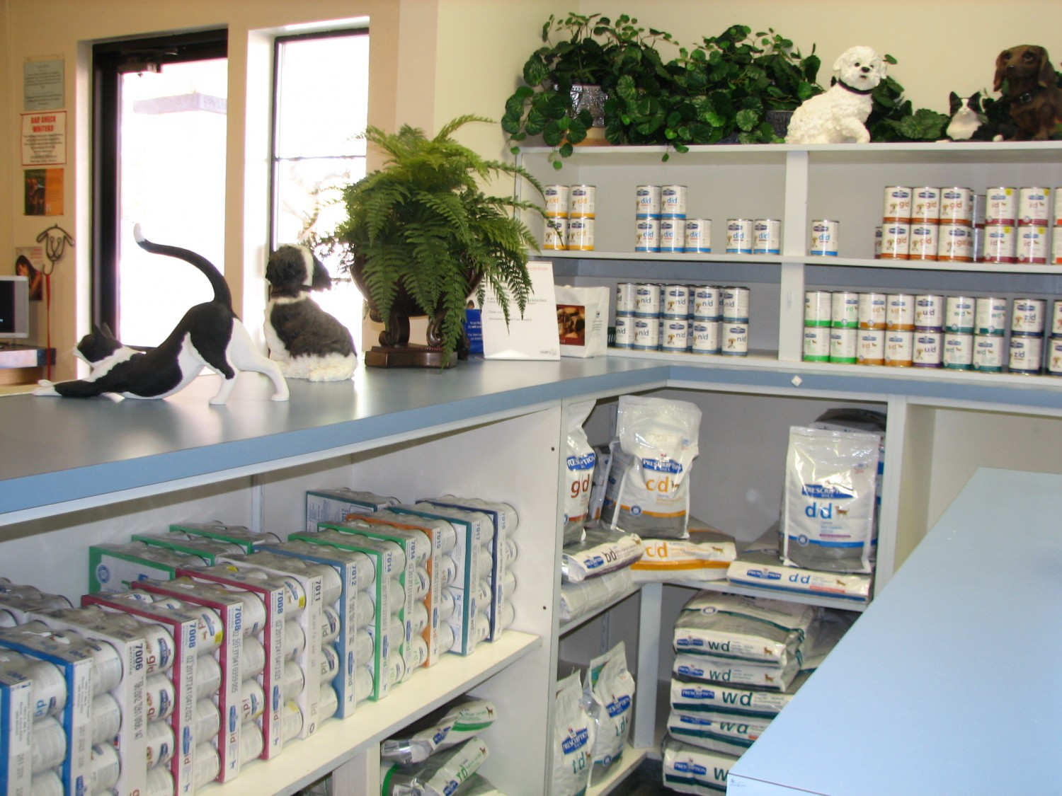Pet foods and products for sale at Ahwatukee Animal Care Hospital and Pet Resort